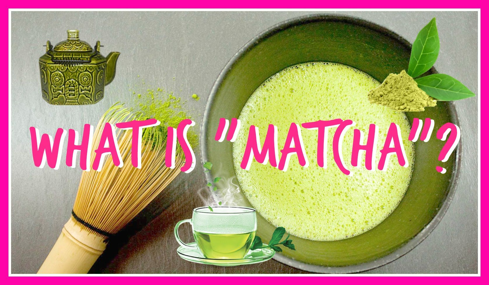 Celebrity Chef, Charles Chen explains what Matcha Green tea Powder ...