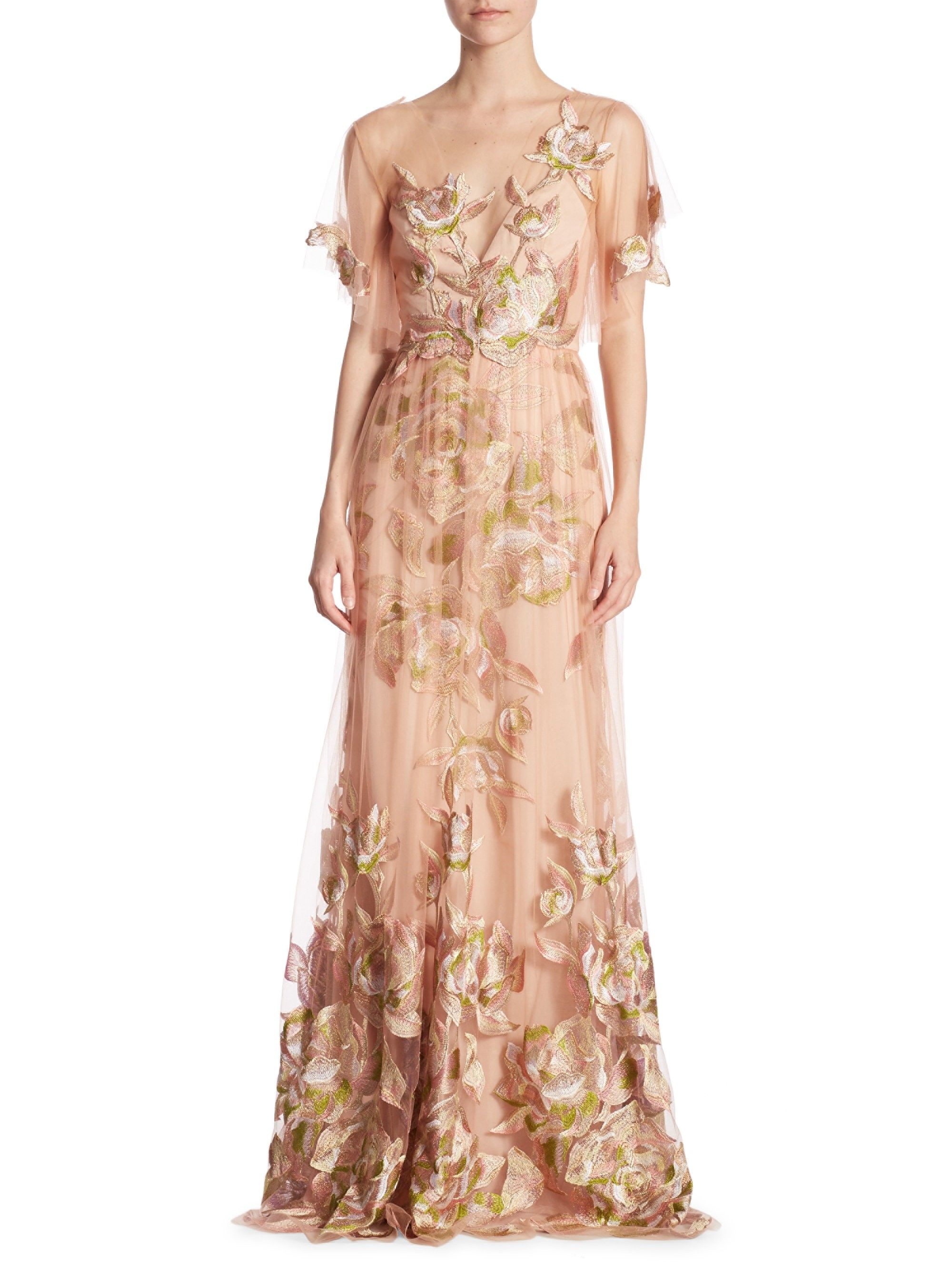 4f687656549e2 Flutter Floral Gown by MARCHESA NOTTE in 2019 | Products | Floral ...