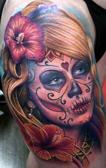 tattoos zum stichwort la catrina tattoo lass deine tattoos bewerten tatoo. Black Bedroom Furniture Sets. Home Design Ideas