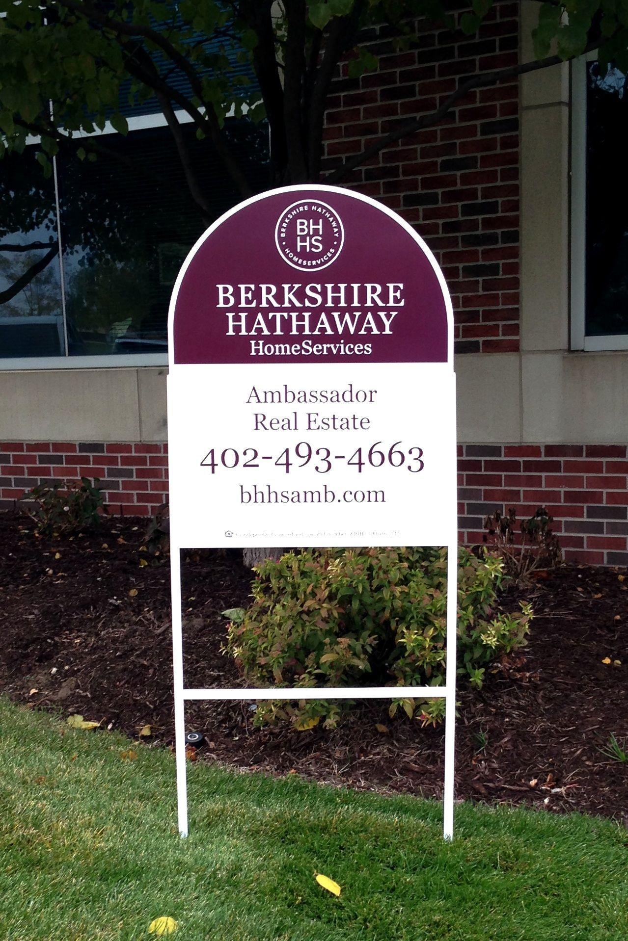 Berkshire Hathaway Homeservices Ambassador Real Estate Sign Inmobiliaria Propiedades