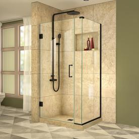 Dreamline Unidoor Plus 29 5 In To 29 5 In W Frameless Satin Black