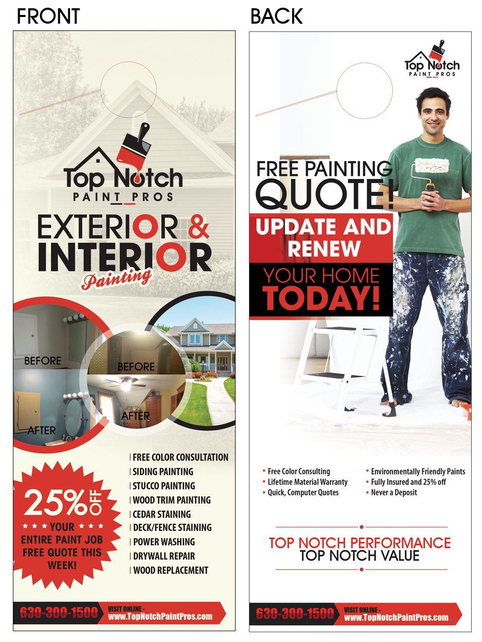 Top Notch Exterior Interior Paint Job Great New Door Hanger More People Should Use Hangers