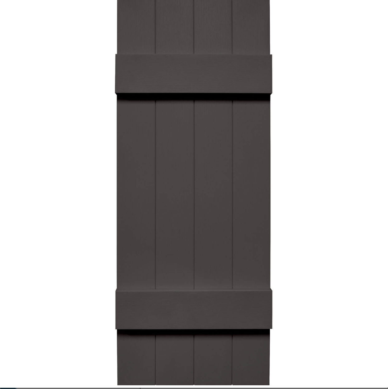 Mid America 4 Board N Batten Joined Vinyl Shutters 1 Pair 14 X 31 018 Tuxedo Gray Vinyl Shutters Batten Vinyl Exterior