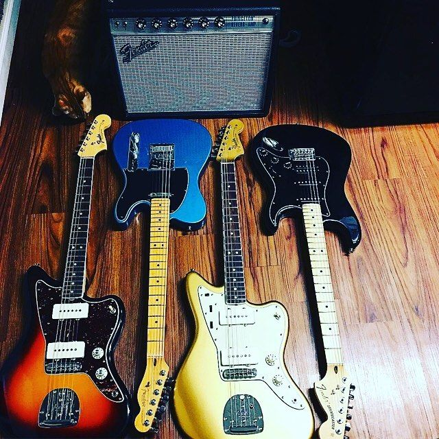 Nice Fender collection @matthew_joseph_music!  #Stringjoy #Geartalk #Guitarist #GearNerds #GuitarPlayer #GearWire #KnowYourTone #GuitarGear #Guitar | Create your custom string set today at Stringjoy.com #guitar #guitars #electric #acoustic #bassguitar
