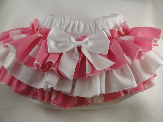 Diaper Cover Bubble Gum Pink Ruffle Diaper by SunKissedCuties, $19.99