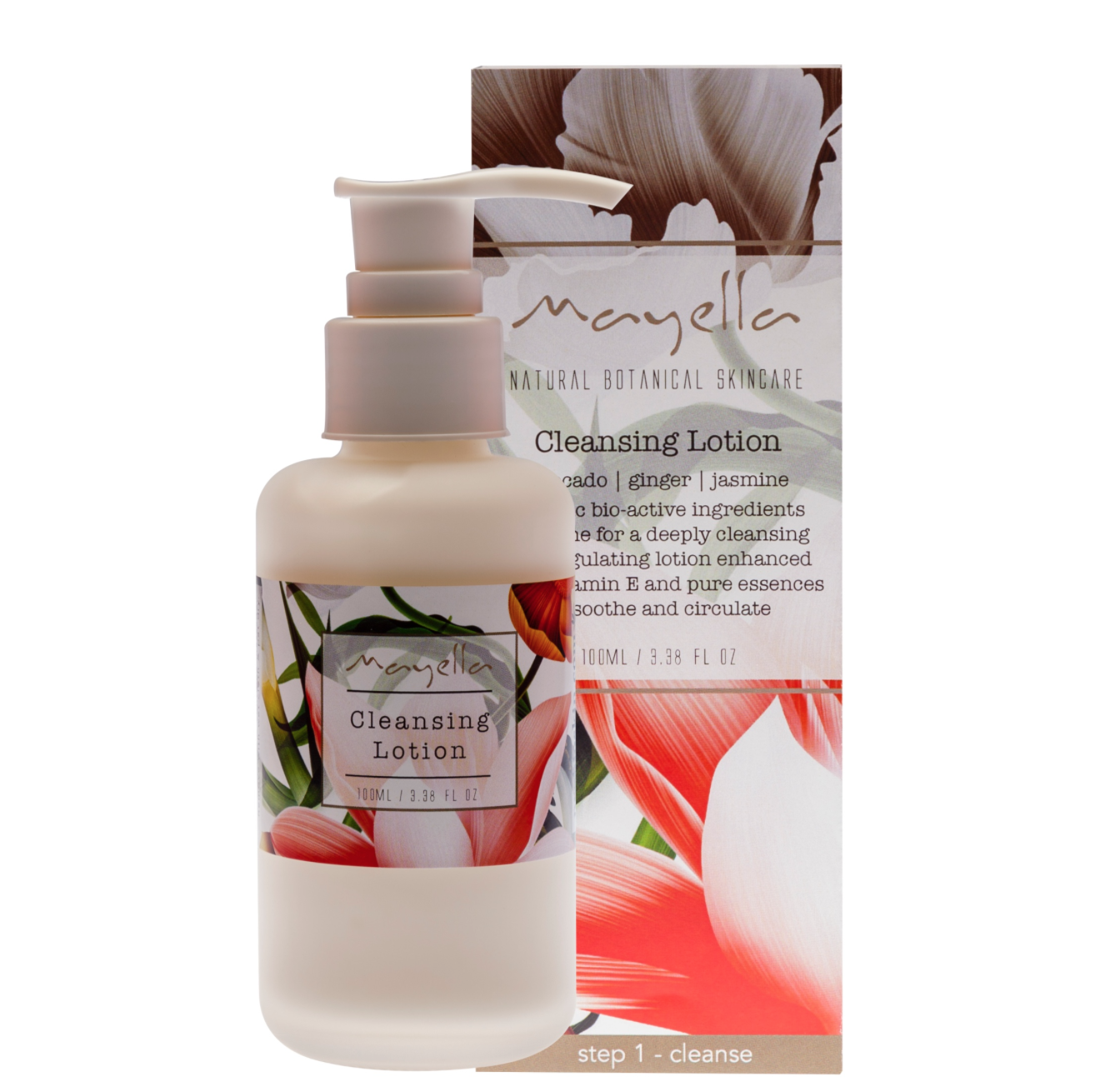 avocado   ginger   jasmine Organic bio-active ingredients combine for a deeply cleansing, refining and regulating cleansing lotion with hydrating alpha hydroxy acids combining with antioxidant rich vitamin E to protect the cellular matrix and enhanced by uplifting pure essences to soothe, circulate, tone and decongest.