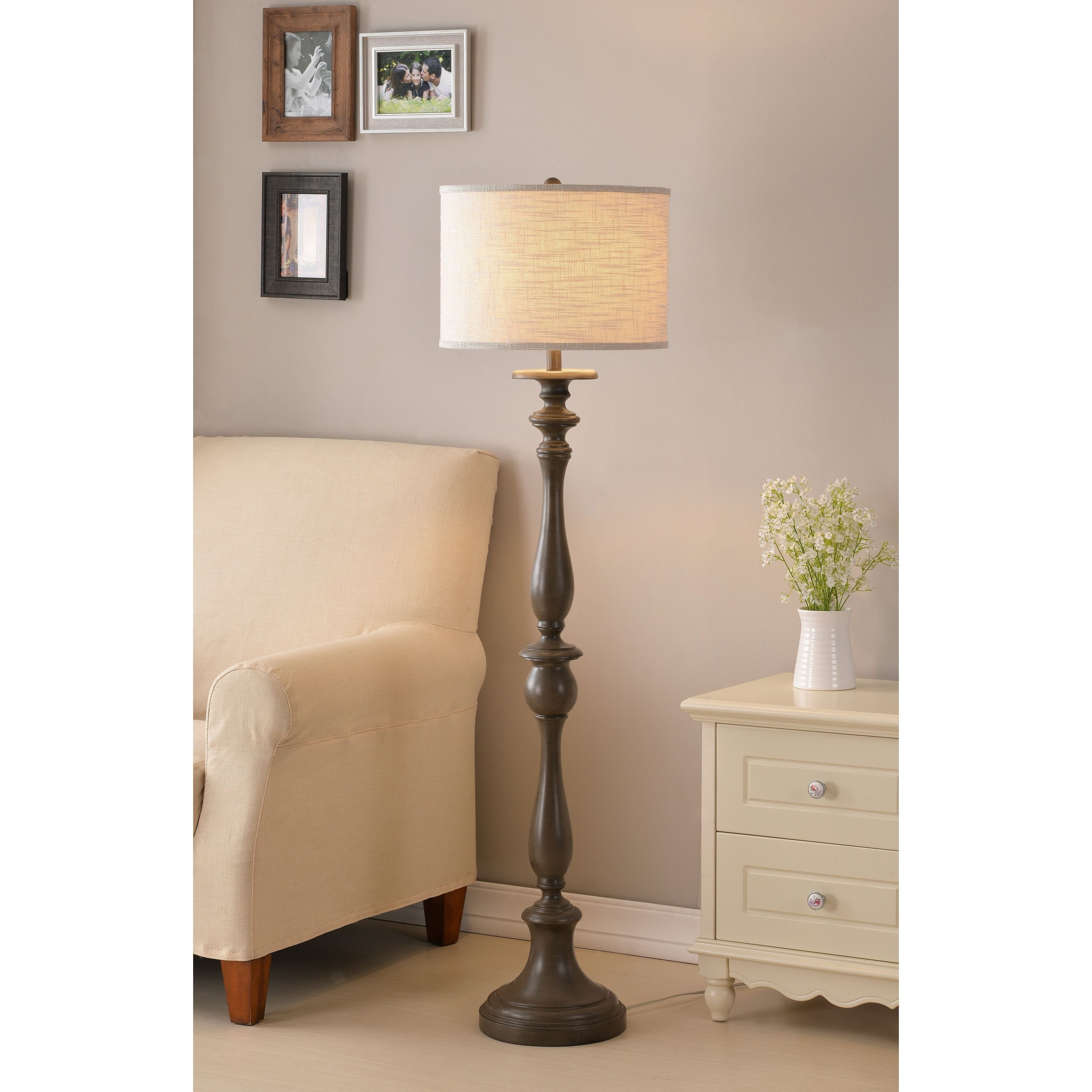 Design Craft Luz 57 5 Floor Lamp Weathered White Products In