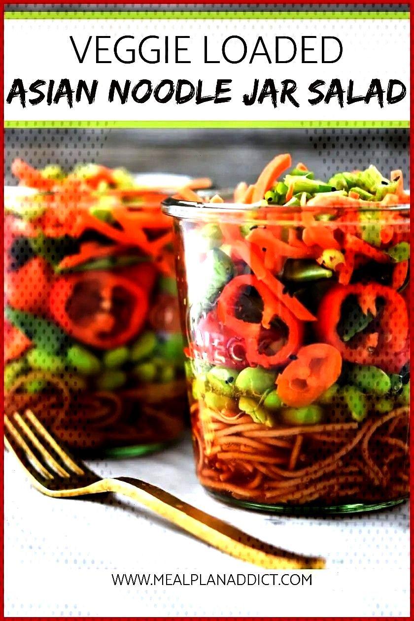 Asian Noodle Jar Salad Make Ahead  Meal Plan Addict Veggie Loaded Asian Noodle Jar Salad is a perfe