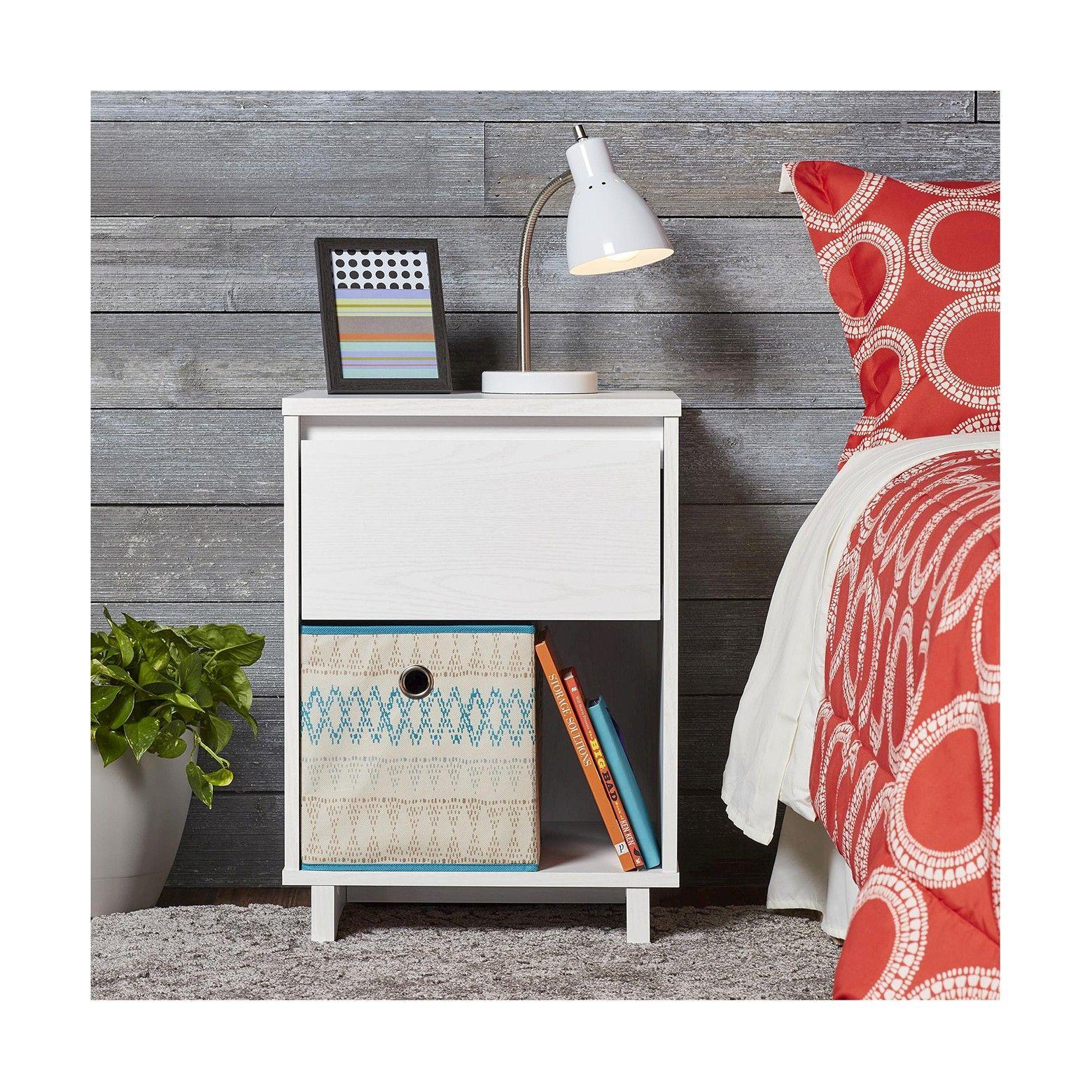 Best Modern Nightstand Table White Room Essentials™ Modern 640 x 480