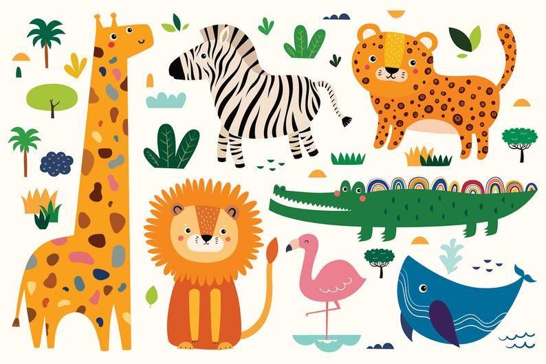 Baby Animals Svg Baby Animals Clipart Rainbow Svg Safari Animals Rainbow Clip Art Baby Zoo Animals Clipart Africa Animal Clipart In 2021 Animal Clipart African Animals Baby Animals