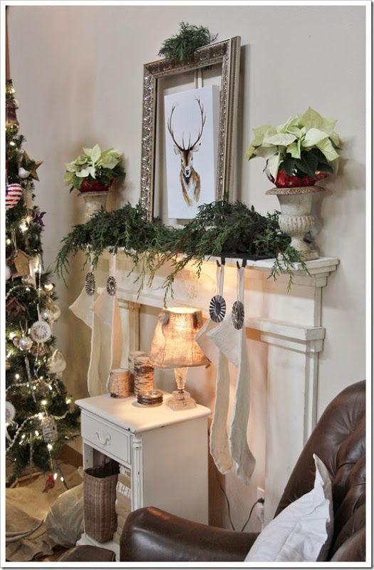 Fishtail Cottage: Holiday Mantle…   Holiday mantle, Mantle ...