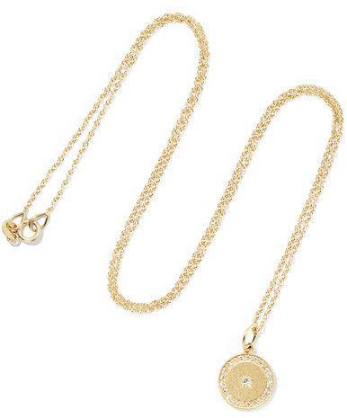 Crescent Moon 18-karat Gold Diamond Necklace - one size Andrea Fohrman He7jbU74E5