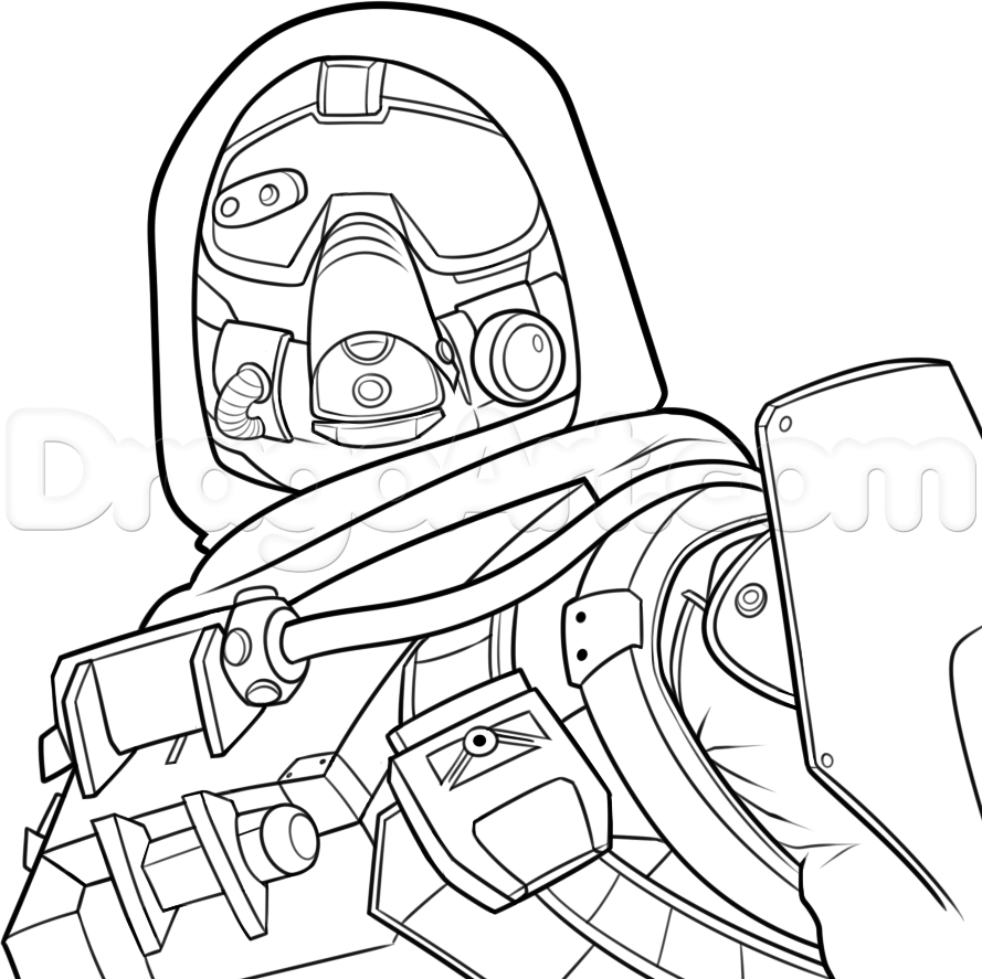 Destiny Game Hunter Coloring Pages Ideas Coloring Pages