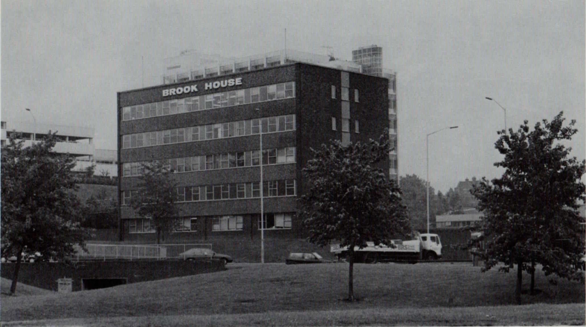 Brook house near Victory roundabout before it was demolished to