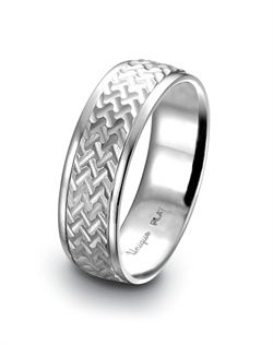 Vintage Artcarved Men S Wedding Rings Unique Settings Of New York Platinum Band With A Milled