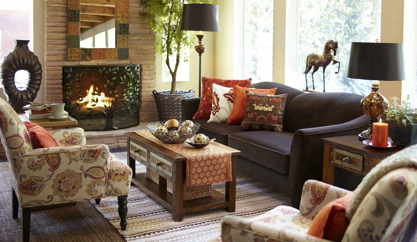 Pier One Decorative Pillows Pillows And Textiles Reflect Fall  Autumninspired Interior Design