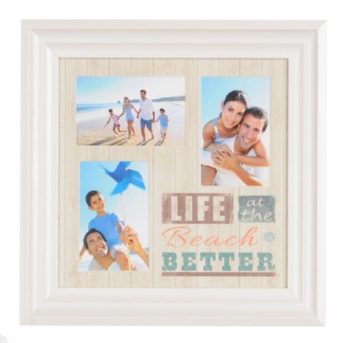 Life At The Beach Collage Frame Collage Frames Kirklands Beach Cottage Decor