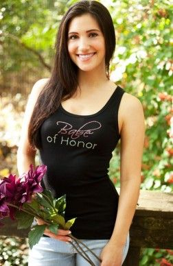 Babe of Honor® Rhinestone Tank Top - Bachelorette Party Tank Top, Maid of Honor Rhinestone Tanks