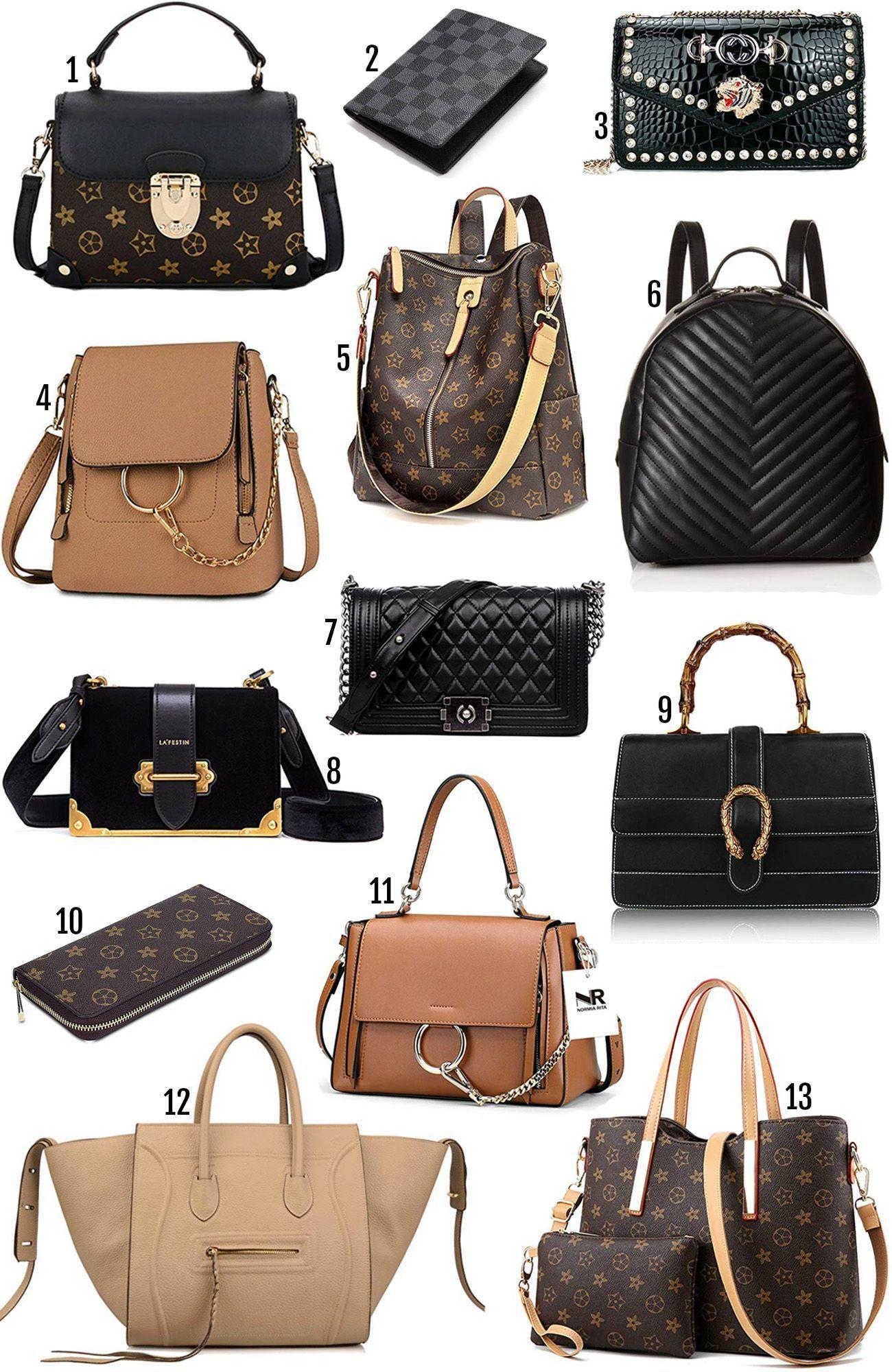Mash Elle beauty blogger designer bag dupe Amazon prime