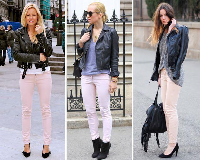 Chaquetas y rosa pantalones negros negras zapatos SxrSw4qP
