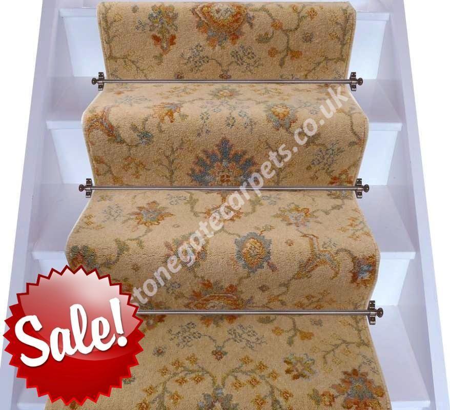 Brintons carpets renaissance gold palmette broadloom stair