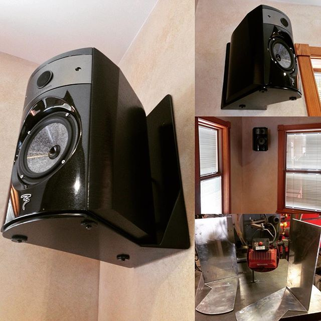 Custom #designed & #fabricated wall mount brackets for #Focal
