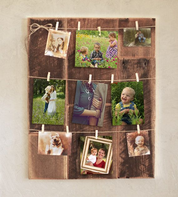 Clothespin picture frame – Reclaimed wood photo holder – Rustic ...
