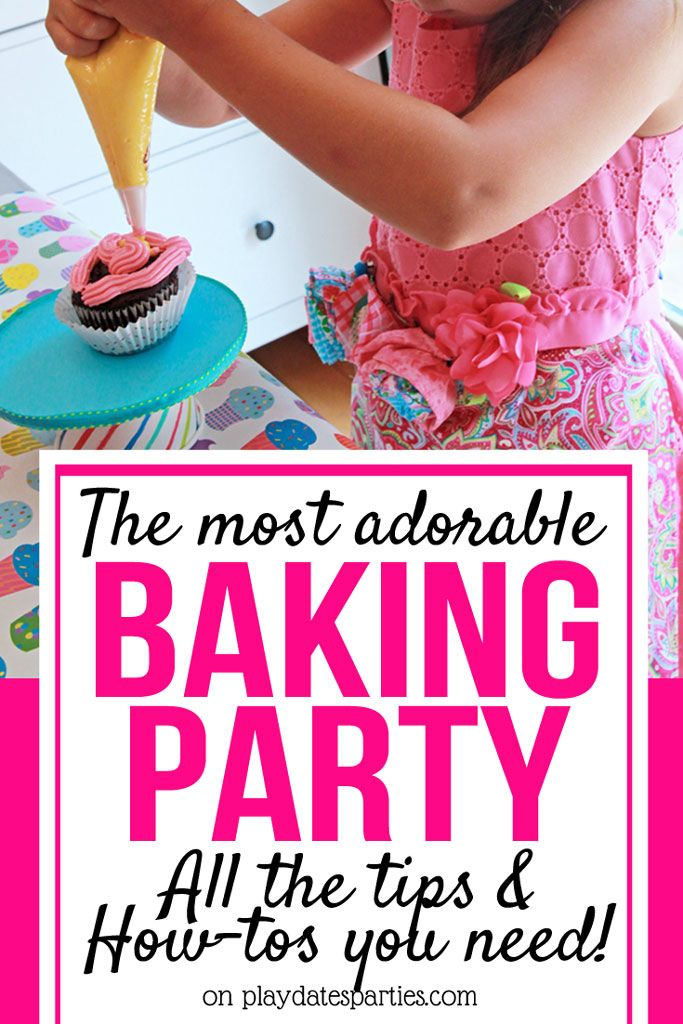 This is the Most Adorable Baking Birthday Party for Kids - Baking birthday parties, Cupcake decorating party, Kids cooking party, Kids baking party, Cupcake birthday party theme, Cupcake party theme - Come in in and take a look at the cutest baking birthday party for kids of all ages! It's filled with ideas that you can recreate, including games and decorations!