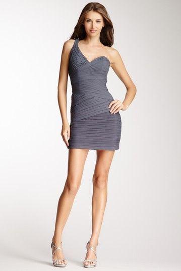 One Shoulder Ruched Dress by La Femme on @HauteLook