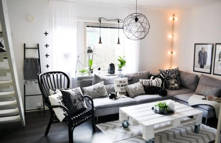 typisch skandinavisch - monochrome farben und diy möbel | sofas ... - Dekoideen Wohnzimmer Weis