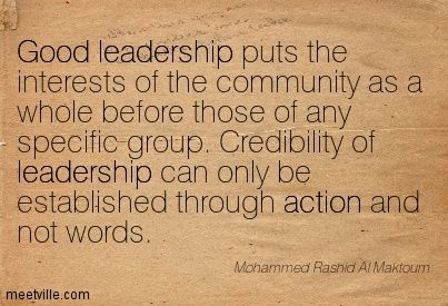 Leadership Quotes From Women | Good leadership puts the