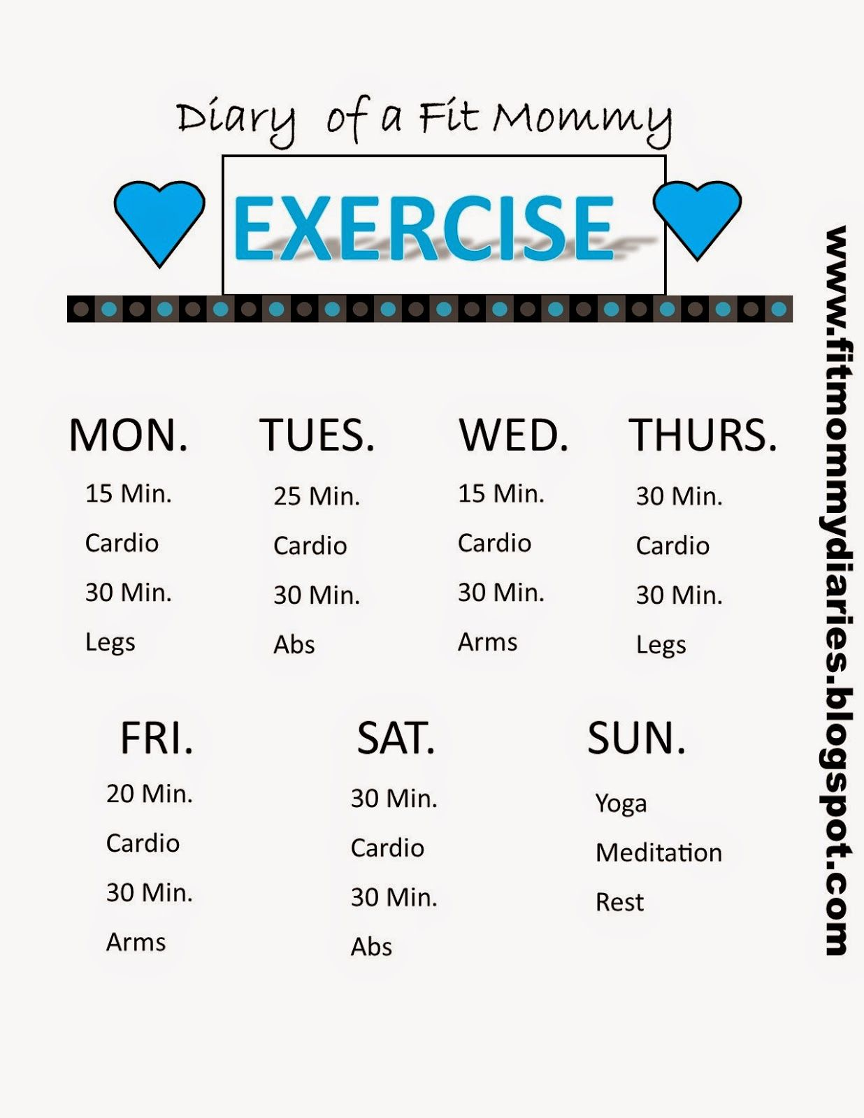 Your New Weekly Workout You Pick Diary Of A Fit Mommy