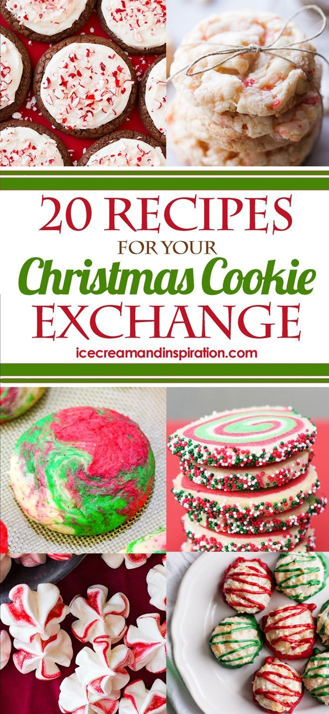 Looking for Christmas cookie ideas for a party or cookie exchange? I've got you covered with these 20 Christmas cookie recipes that will be just perfect for you! Whether you're looking for easy Christmas cookies (like no-bake and drop cookies), fancy cookies (like slice-and-bake and dipped cookies), or unique Christmas cookies that will truly impress, you'll find them here! #sliceandbakecookieschristmas