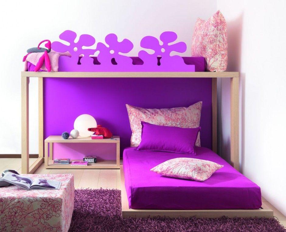 Room Ideas · Creative Purple Children Bed Set (940×763)