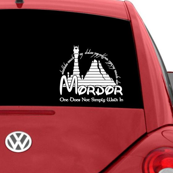 Mordor Car Decal Decals Cars And The Ojays - Car decal maker online