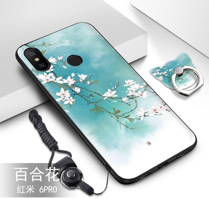 Xiaomi Mi A2 Lite Case Silicon 3d Relief Painting Cartoon Soft Tpu Silicone Luxury Phone Case For Xiaomi Redmi 6 Pro Cover Luxury Phone Case Phone Cases Xiaomi