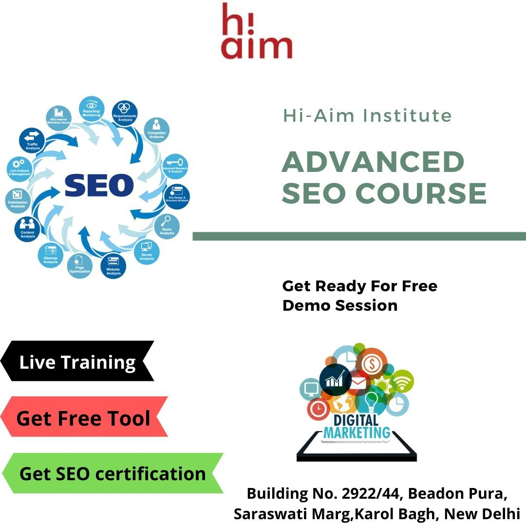 HiAim is one of the Best SEO Course Training Institute in