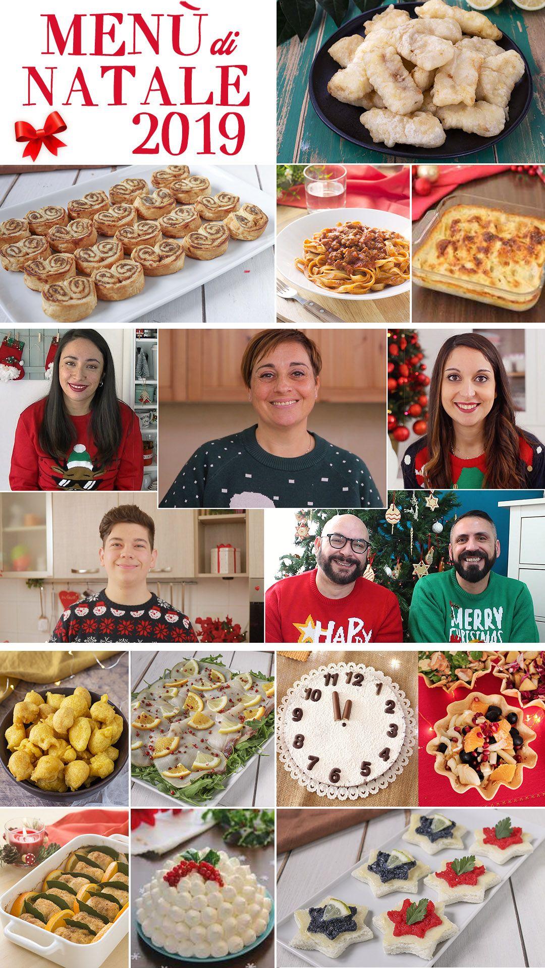 I Menu Di Benedetta Natale.Menu Di Natale 2019 Ricette Cibo Per Feste Antipasti Di Natale