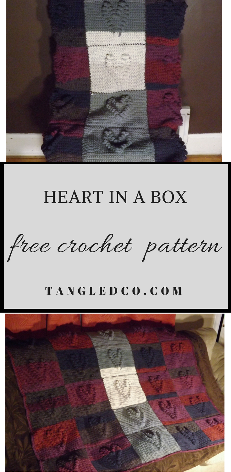 Heart in a Box Crochet Afghan – Tangled Co | Afghan Squares ...