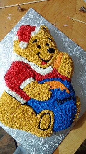 Winnie the pooh christmas cake Honey vanilla cake with honey