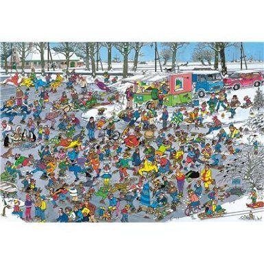 jumbo 3000 pièces jan van haasteren sur la glace amazon fr