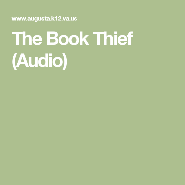 Book thief audio the