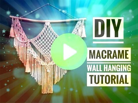 Wall Hanging Tutorial  DIY Boho Home Decor Ideas  Supper Easy  YouTubeMacrame Wall Hanging Tutorial  DIY Boho Home Decor Ideas  Supper Easy  YouTube Theres a unique beaut...