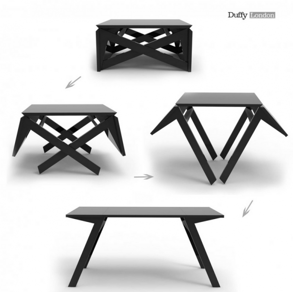 table pliable transformable voil un exemple d ameublement. Black Bedroom Furniture Sets. Home Design Ideas
