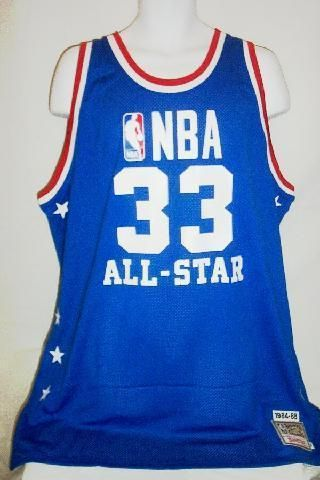 sports shoes 13a76 c1978 1984-85 Kareem Abdul-Jabbar West All Star Authentic Mitchell ...