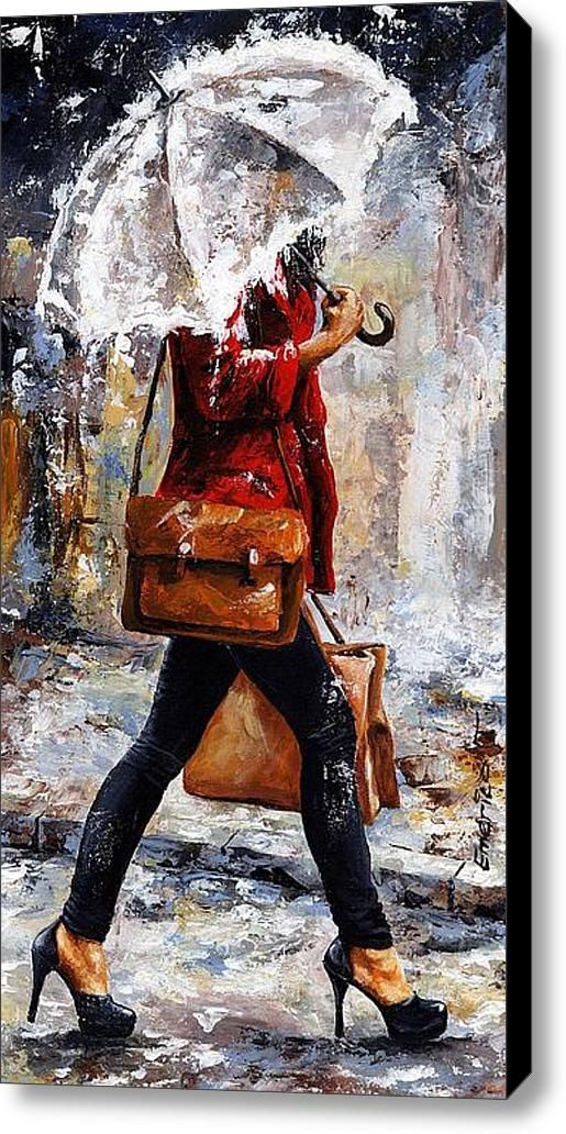 Rainy Day - Woman Of New York 17, by Emerico Toth