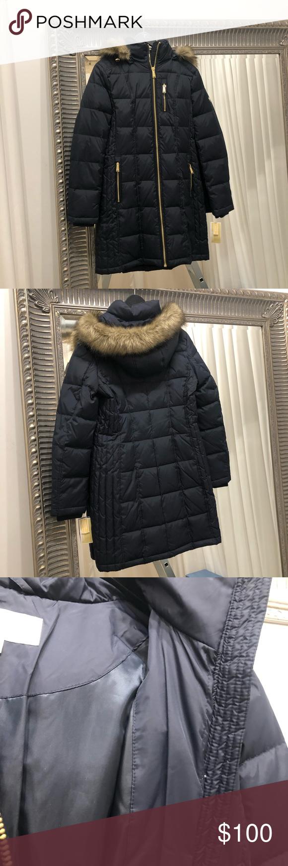 Michael Kors Faux Fur Down Coat Down Coat Michael Kors Michael Kors Jackets [ 1740 x 580 Pixel ]