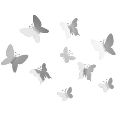 Umbra Set Of 9 Mariposa Butterfly Wall Decor White Found At