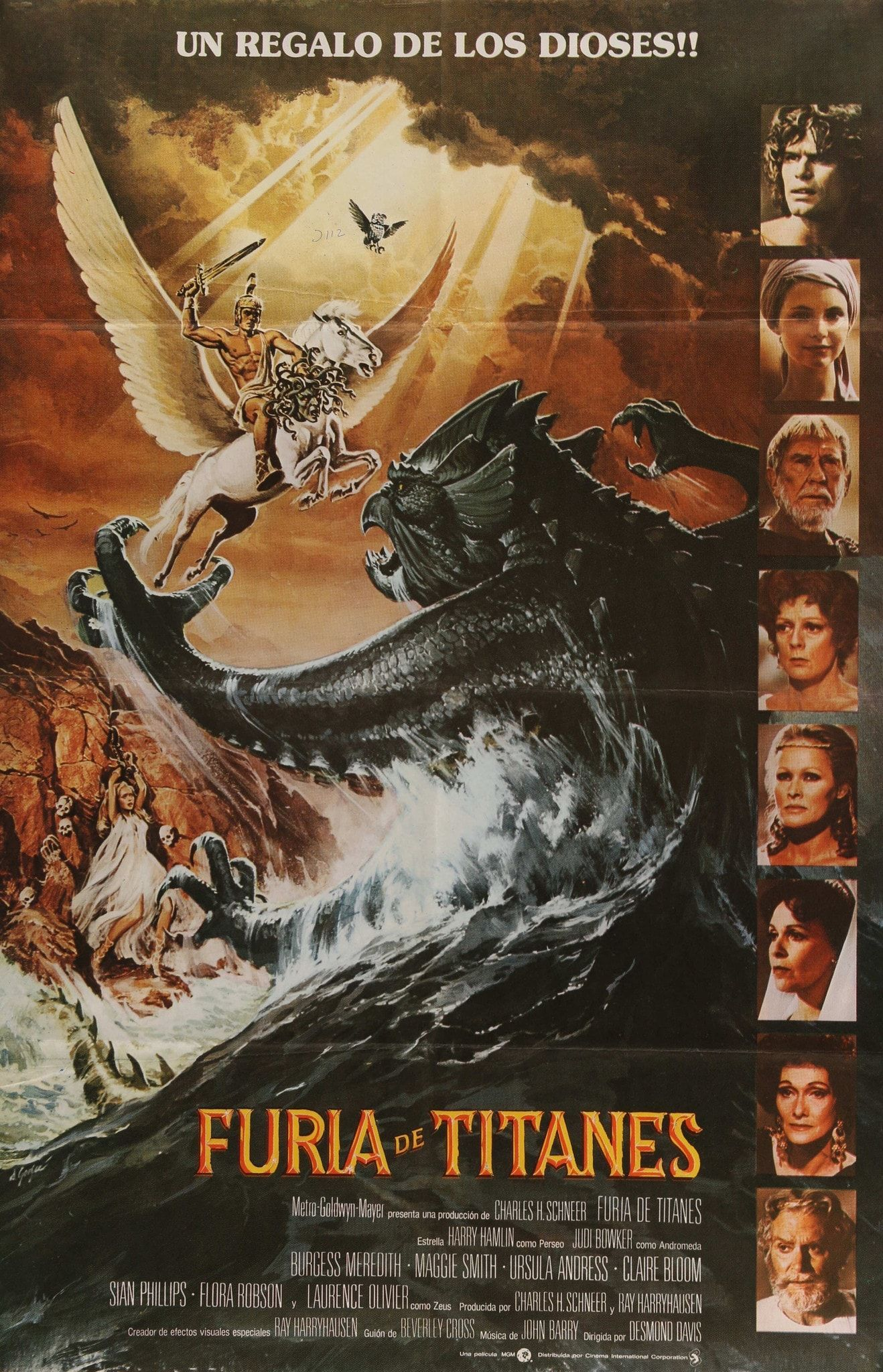 VINTAGE CLASH OF THE TITANS MOVIE POSTER A4 PRINT