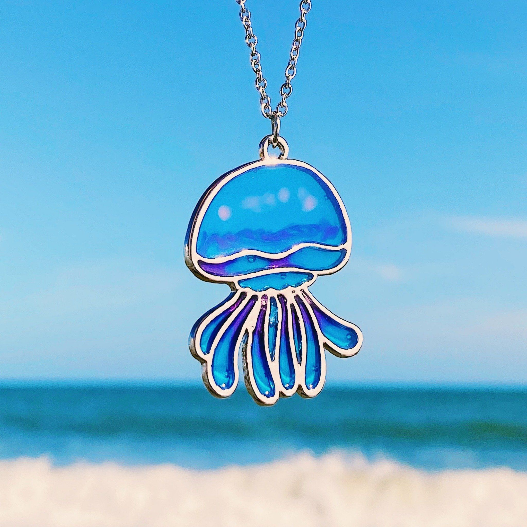 Enamel Jellyfish Pendant